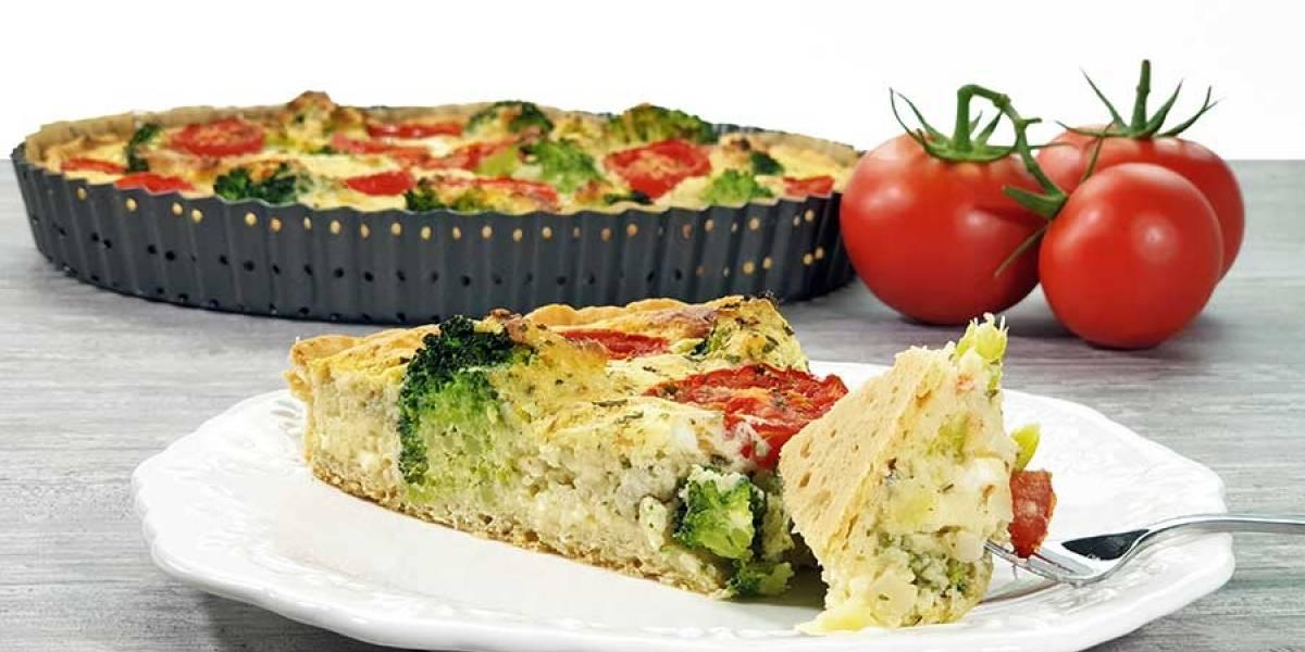 Receita: aprenda a fazer uma deliciosa quiche de brócolis e tomate