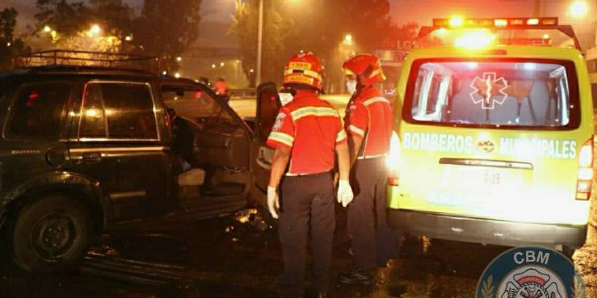 Accidentes de tránsito en zona 11 dejan un muerto y un herido