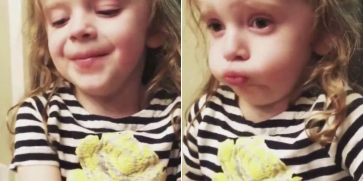Amor de filha: Vídeo de menina fingindo que gostou da comida da mãe faz sucesso no Twitter