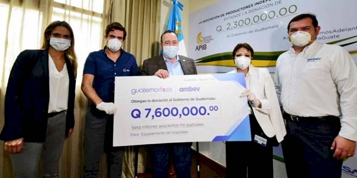 Espíritu de solidaridad se refleja en donativo de Q7.6 millones para hospitales