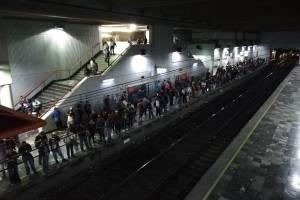 Así se ve la estación en hora punta