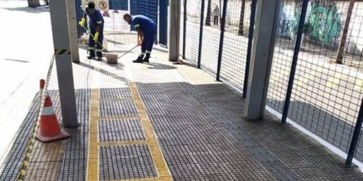 Terminais de ônibus de São Paulo têm faixa de distanciamento entre passageiros