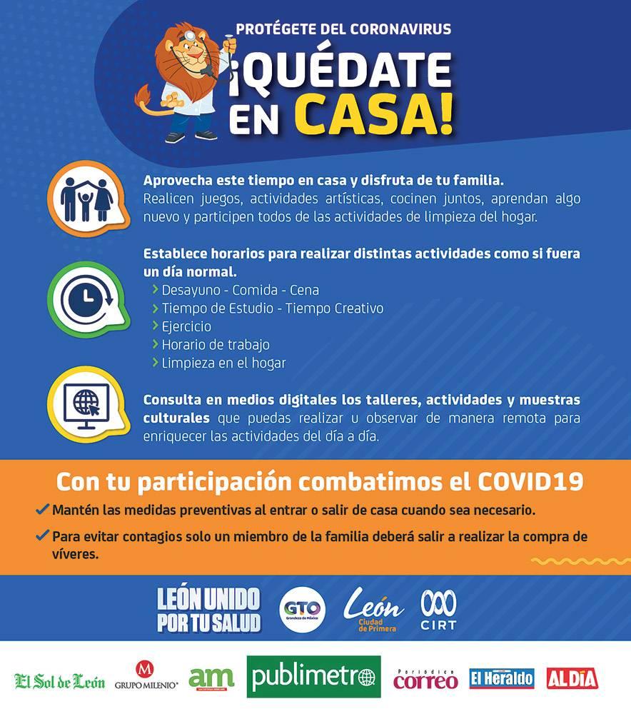 Anuncio Gobierno de Guanajuato edición León del 3 de abril del 2020, Página 07