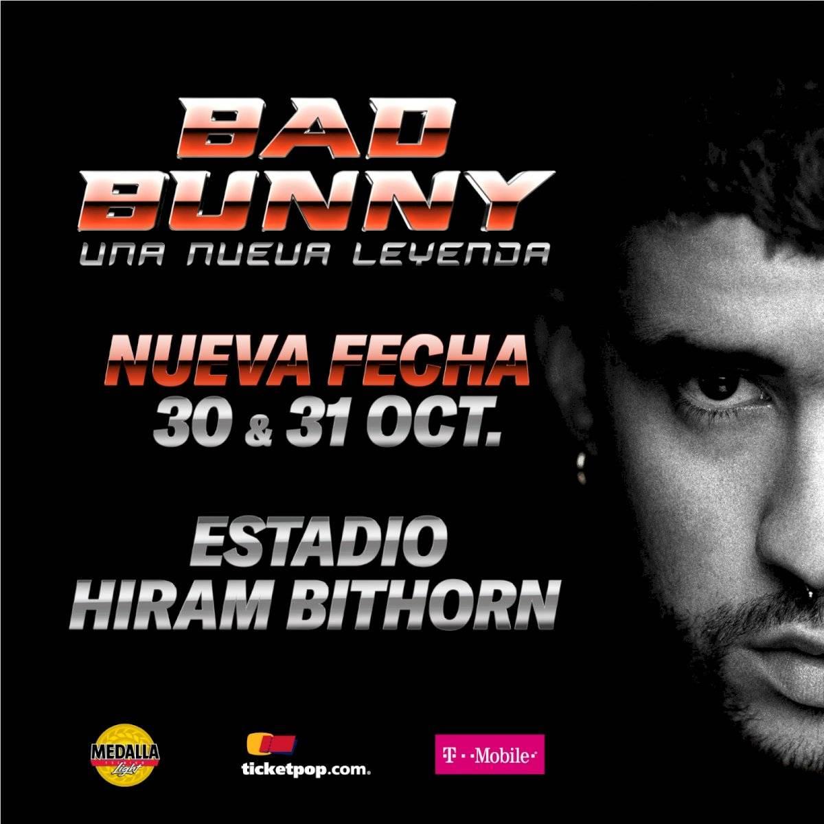 Concierto - Bad Bunny - Octubre