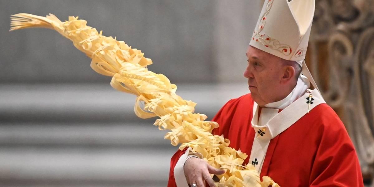 El crudo, pero real mensaje que dejó el papa Francisco en la misa de Domingo de Ramos
