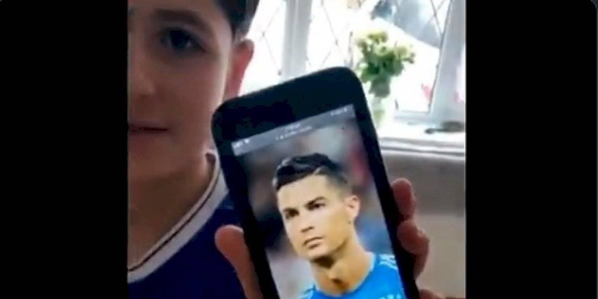 VIDEO. Niño quería el corte de Cristiano Ronaldo, pero las cosas salieron mal