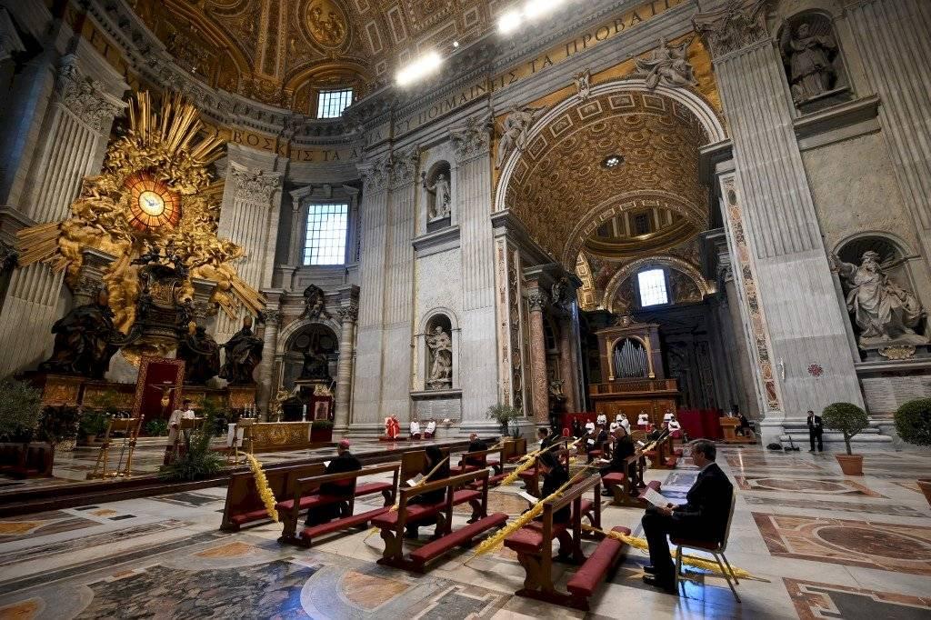 Papa Francisco oficia misa del Domingo de Ramos 2020