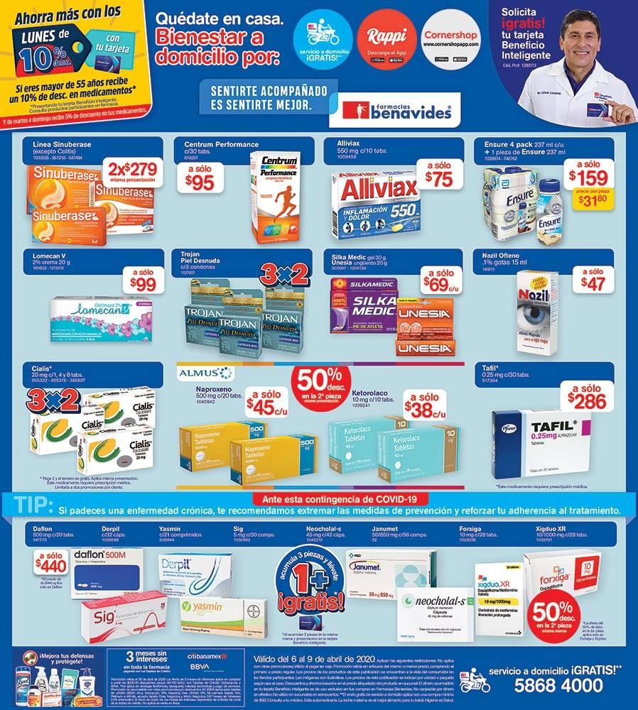 Anuncio Farmacias Benavides edición CDMX del 6 de abril del 2020, Página 07