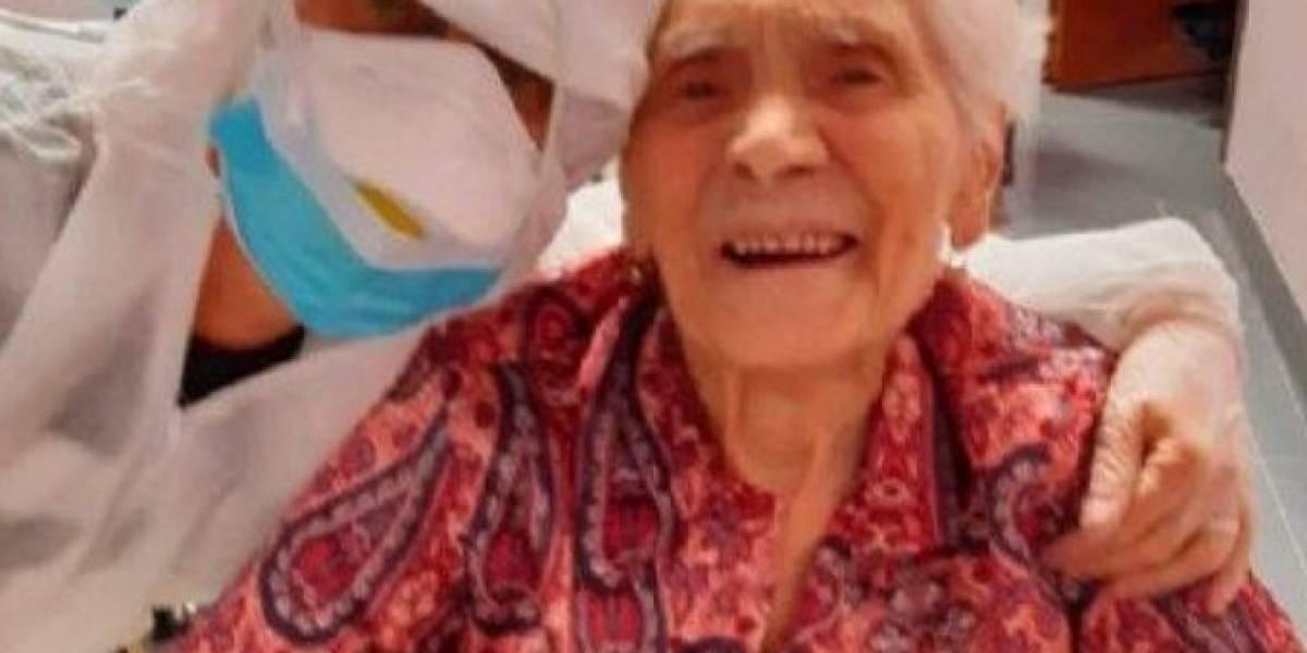 Mujer de 104 años se recuperó del coronavirus, también sobrevivió a la gripe española