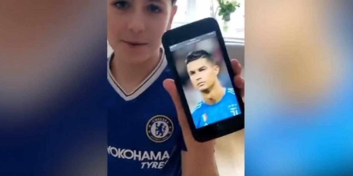 Filho pede ao pai corte de cabelo igual ao de Cristiano Ronaldo e resultado final se torna viral nas redes sociais