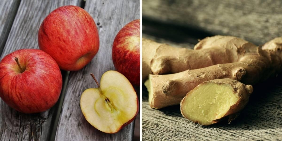Suco de maçã e gengibre para aliviar a dor de cabeça
