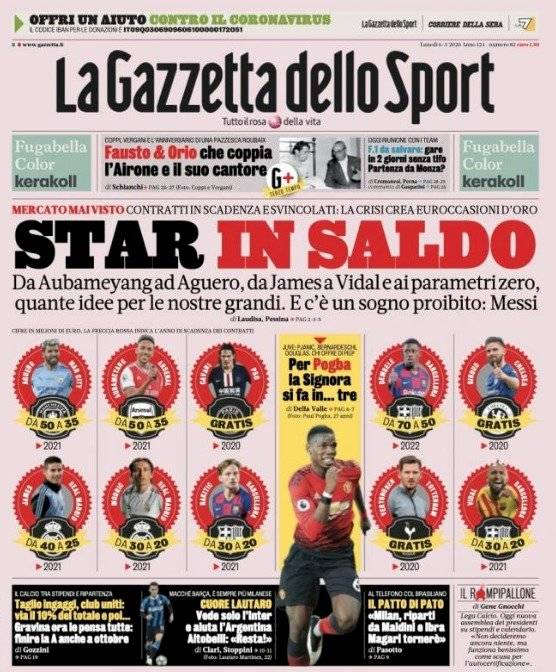 Gazzetta dello Sport especula precio de James Rodríguez para 2021