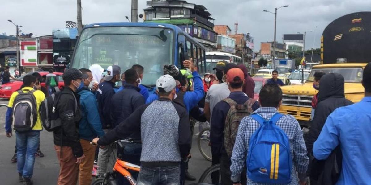 Nuevas protestas en el sur de Bogotá de gente a la que no le llegan ayudas