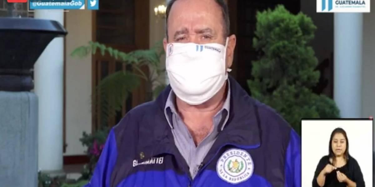 VIDEO. Alejandro Giammattei confirma 3 nuevos casos de Covid-19