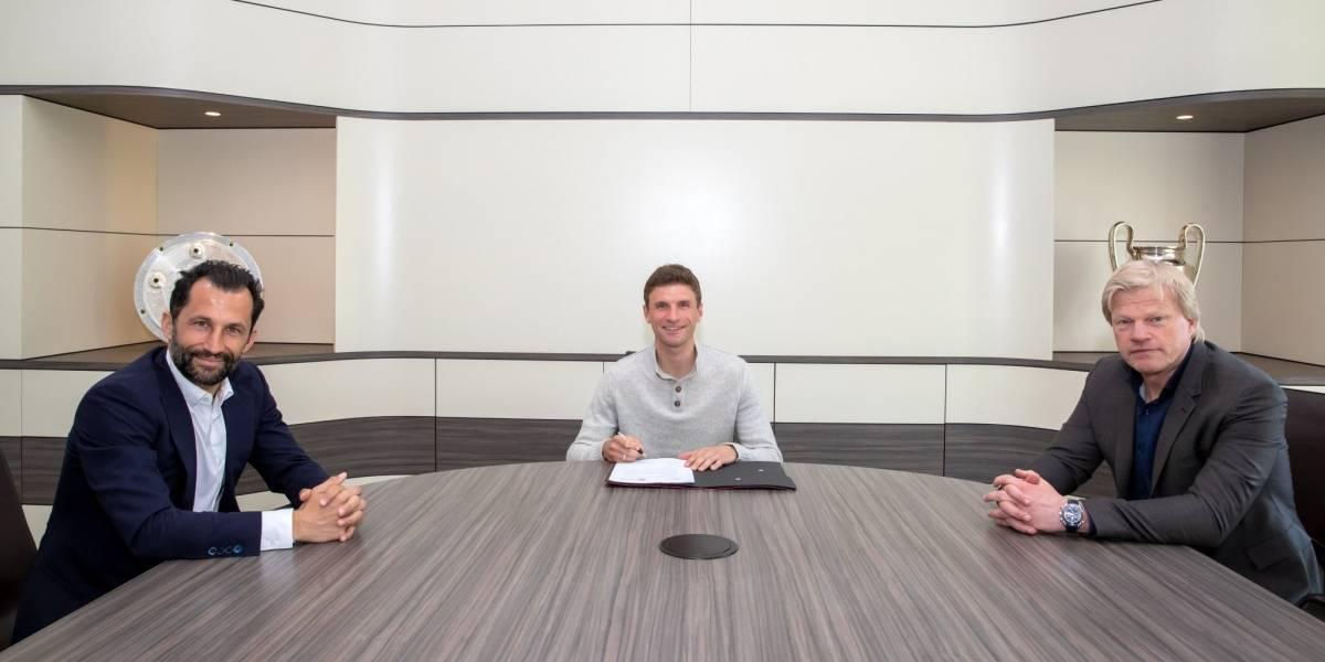 Bayern Münich hace oficial la renovación del contrato de Thomas Mülller