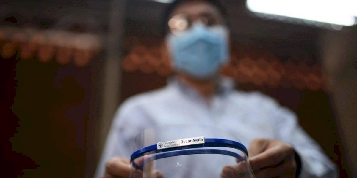 Gobierno recibe donación de protectores faciales creados con tecnología 3D