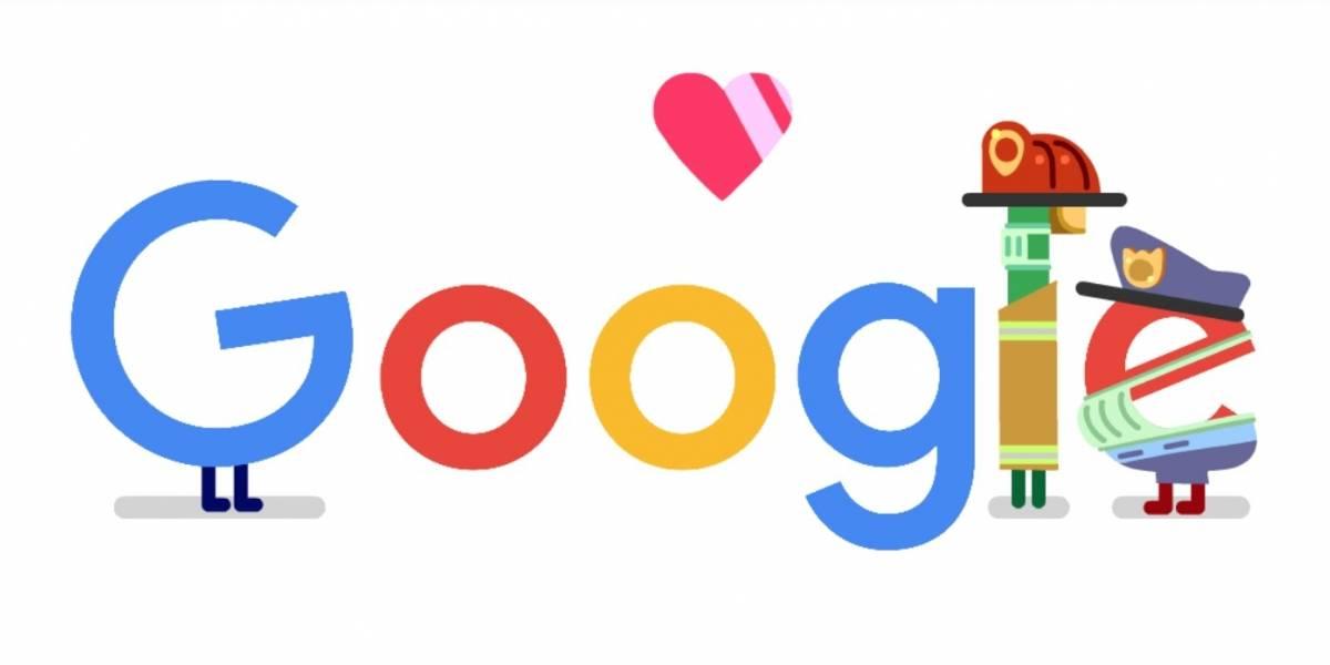 Google lança doodle para homenagear trabalhadores de serviços de emergência