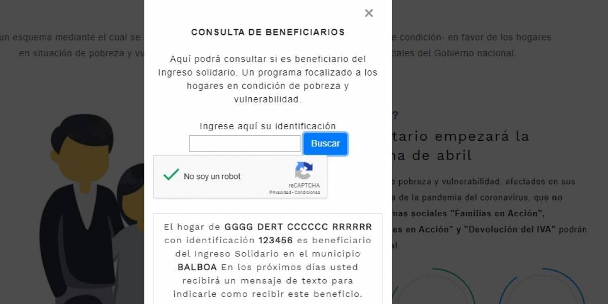 Gobierno explicó qué pasó con base de datos de subsidios de Ingreso Solidario