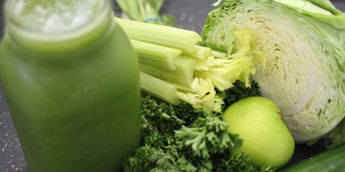 Estos son los ingredientes para preparar un jugo verde
