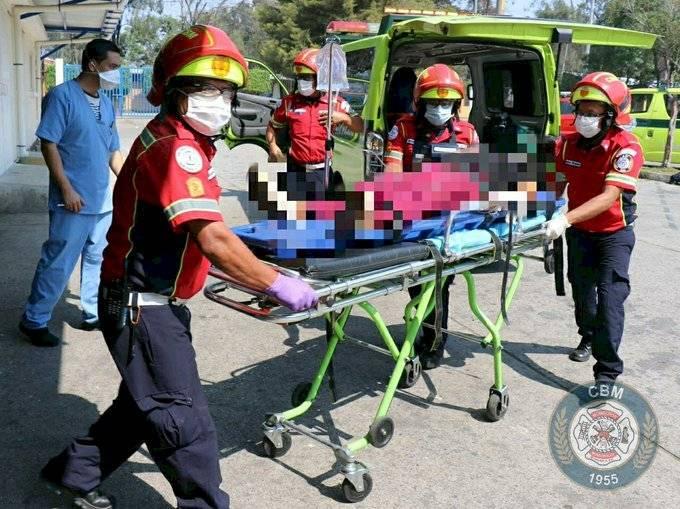 mujer herida por ataque armado en Villa Nueva