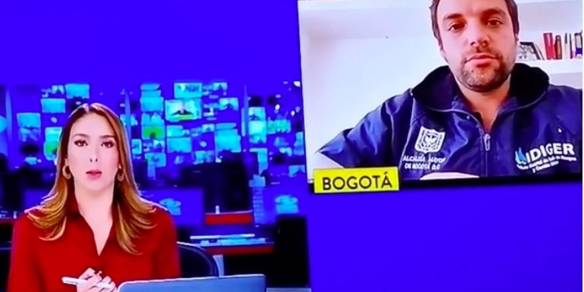 (Video) Gracioso momento en 'Noticias Caracol' fue tema de conversación en redes
