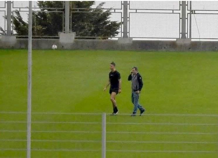 Foto redes: Cristiano Ronaldo entrenando en pleno confinamiento por el coronavirus