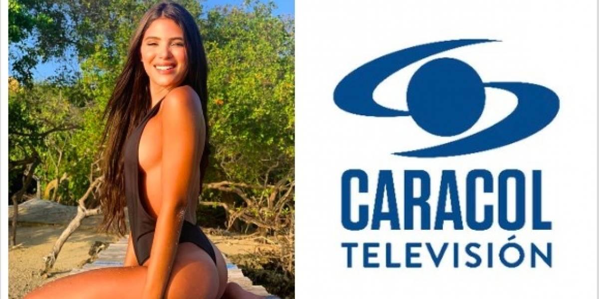 Presentador de Caracol le coqueteó a Mara Cifuentes... ¡Y en una foto sin brasier!