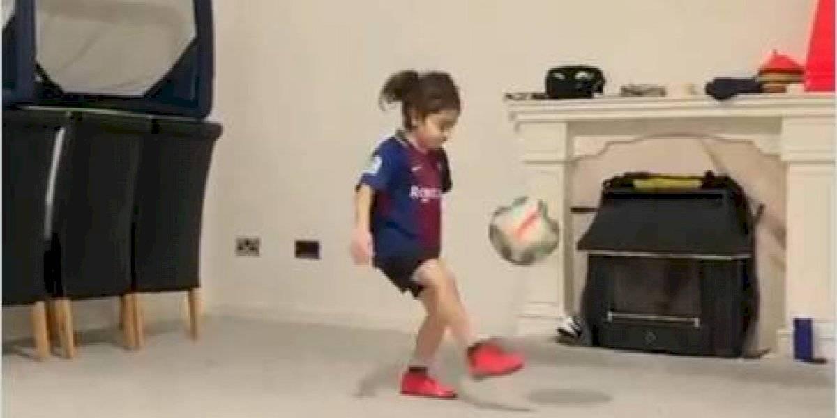 Arat, el niño iraní que con su habilidad descrestó al mismísimo Messi