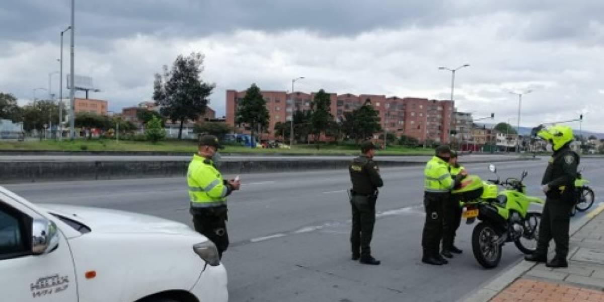 La impresionante cifra de conductores multados por infringir la cuarentena en Bogotá