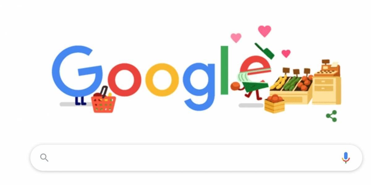 Google compartilha doodle para homenagear trabalhadores de supermercados