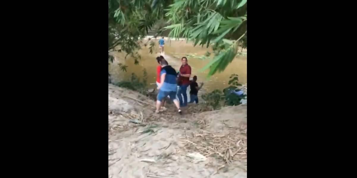 (VIDEO) Político violó la cuarentena y cuando fue descubierto intentó huir por un río