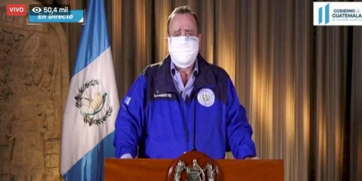 VIDEO. Presidente Giammattei indica que hay 11 nuevos casos de Covid-19