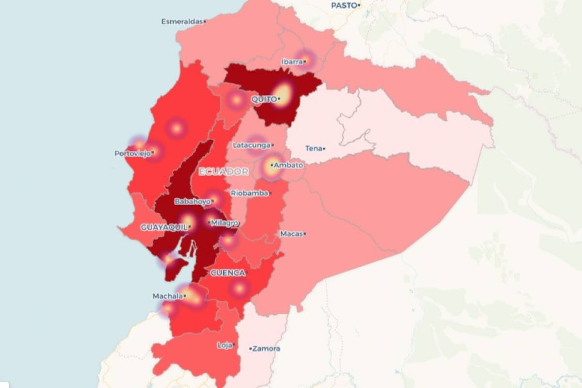 Ecuador Mapa Del Mundo.Ciudadania Podra Acceder A Mapa De Calor Sobre El Coronavirus En Ecuador Metro Ecuador