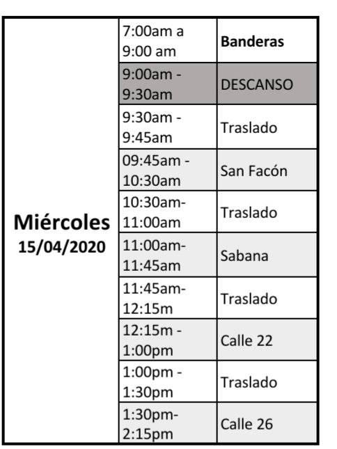 Jornada de limpieza y desinfección de TransMilenio, para este miércoles 15 de abril de 2020.