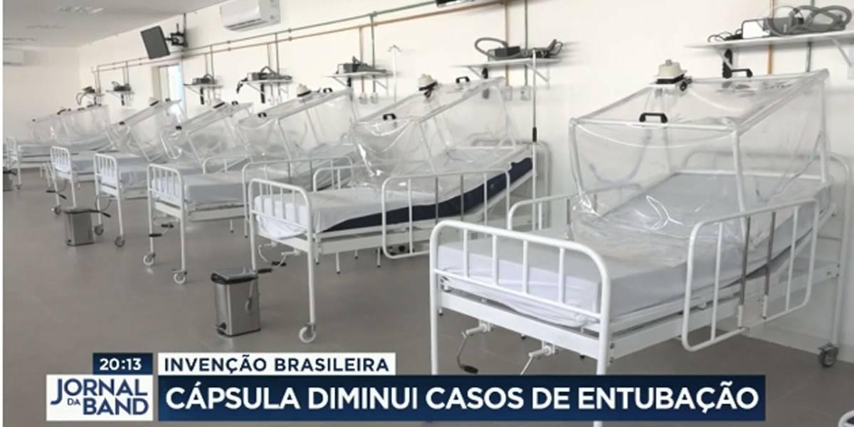 Cápsula de ventilação inventada por brasileiros diminui casos de intubação