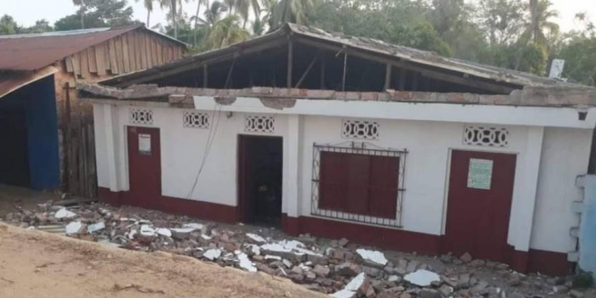 En video: Así se registró el temblor que afectó a 40 casas en la costa Caribe