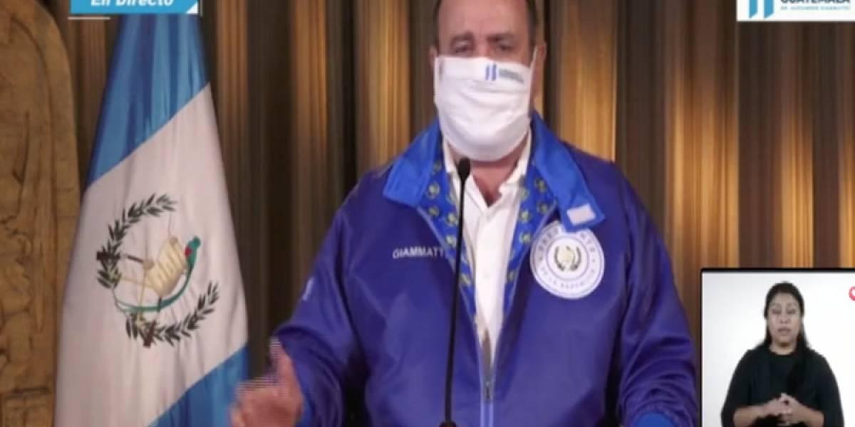 VIDEO. Alejandro Giammattei confirma 16 nuevos casos de coronavirus