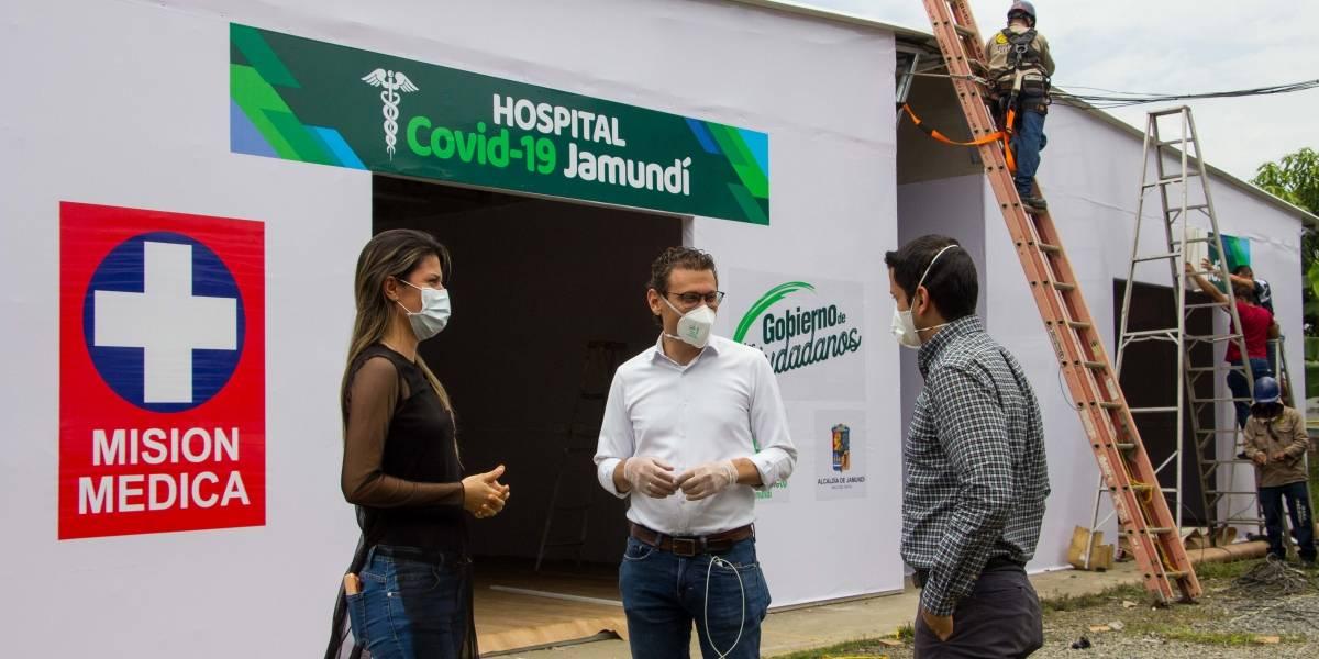 Con el apoyo de la empresa privada, Jamundí amplía su hospital para atender a pacientes con COVID-19