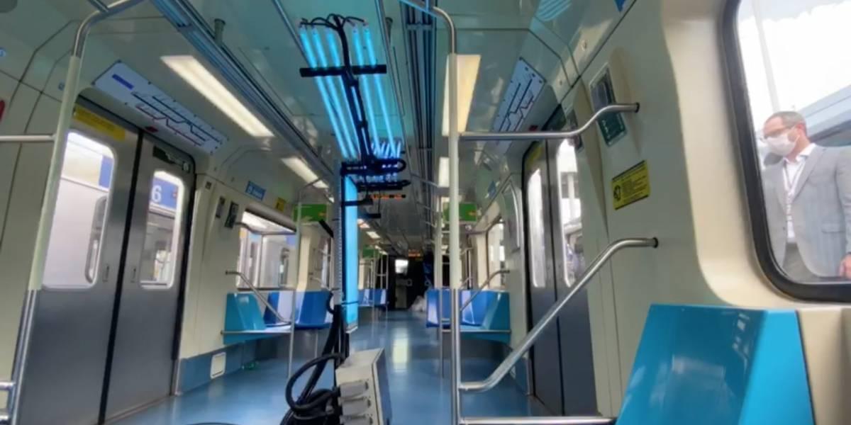 Metrô de São Paulo testa luz ultravioleta para desinfetar vagões