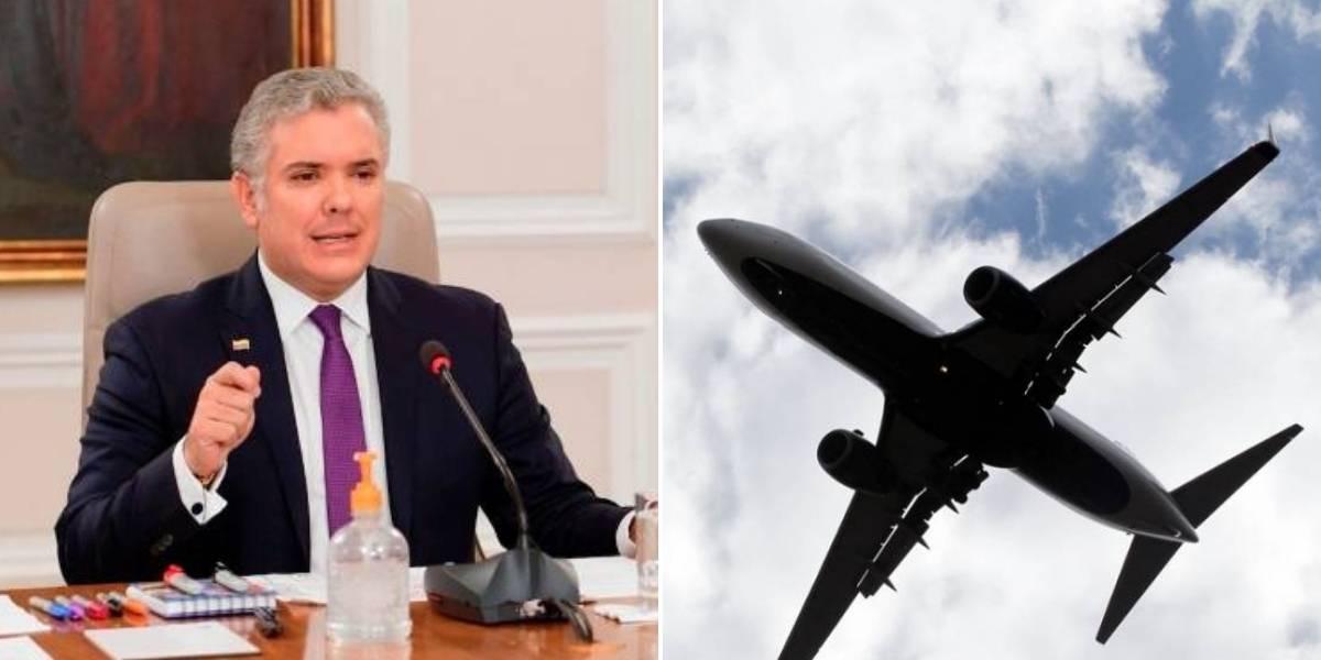 Duque evalúa protocolos para iniciar vuelos nacionales al finalizar la cuarentena