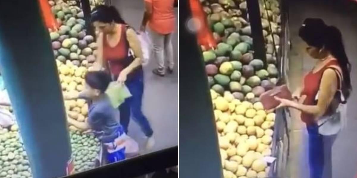 Mujer que robó dinero a pequeño niño fue descubierta gracias a video