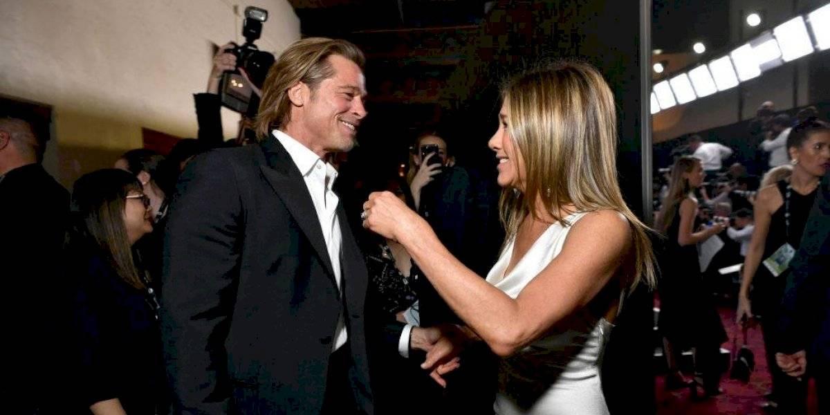 Revelan la primera imagen del esperado reencuentro virtual de Jennifer Aniston y Brad Pitt