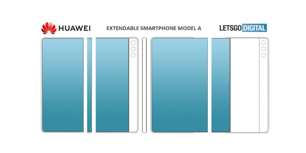 Huawei patentó un smartphone con pantalla que se desliza y hay que verlo para creerlo