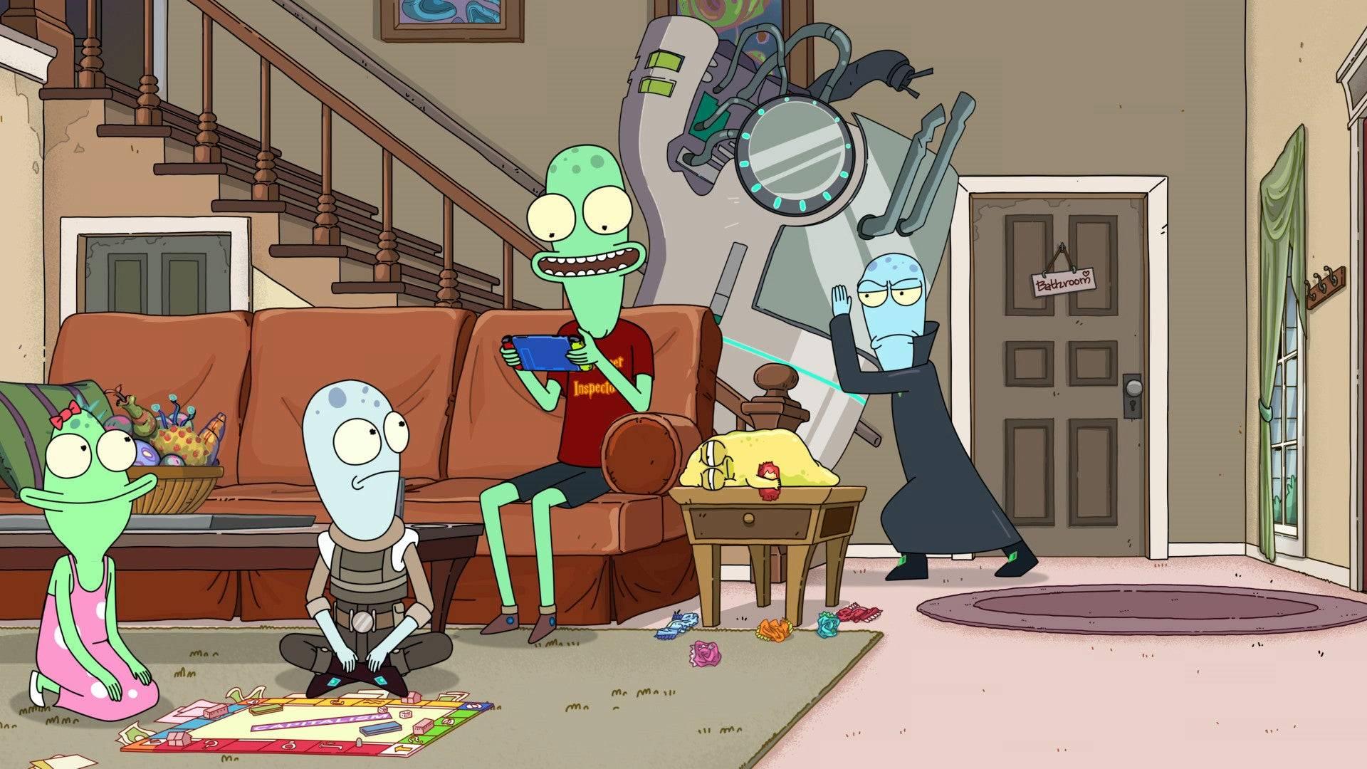 Rick y Morty Solar Opposites