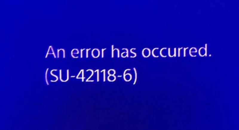 Error PS4