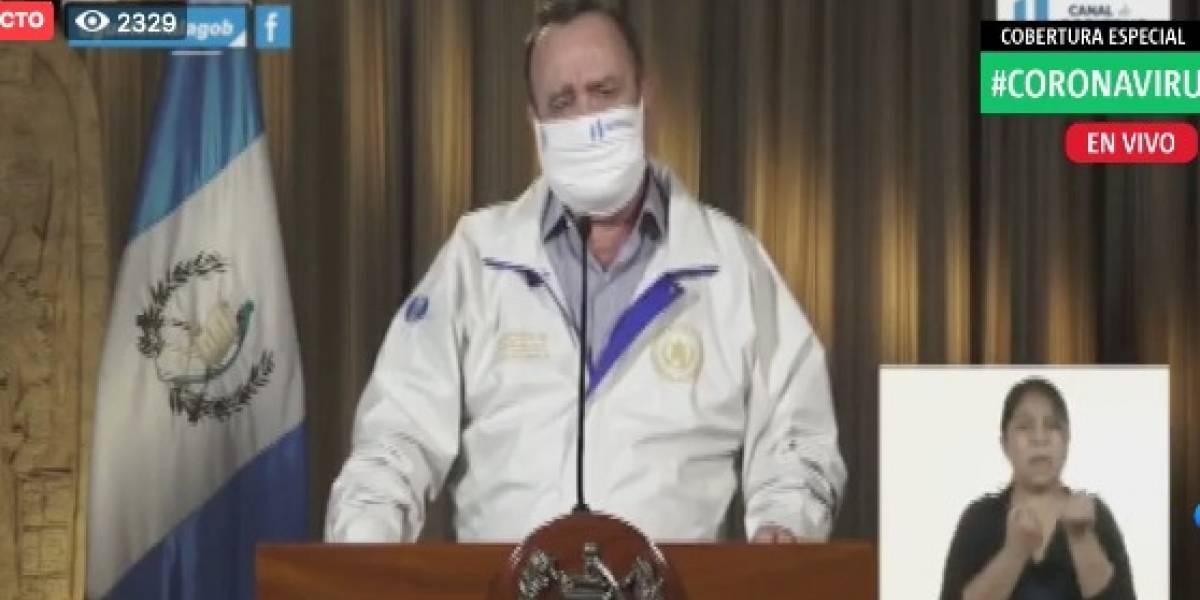 Giammattei confirma 21 nuevos casos de coronavirus en Guatemala