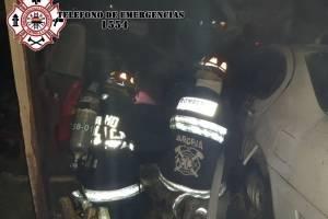 incendio en predio de Villa Nueva