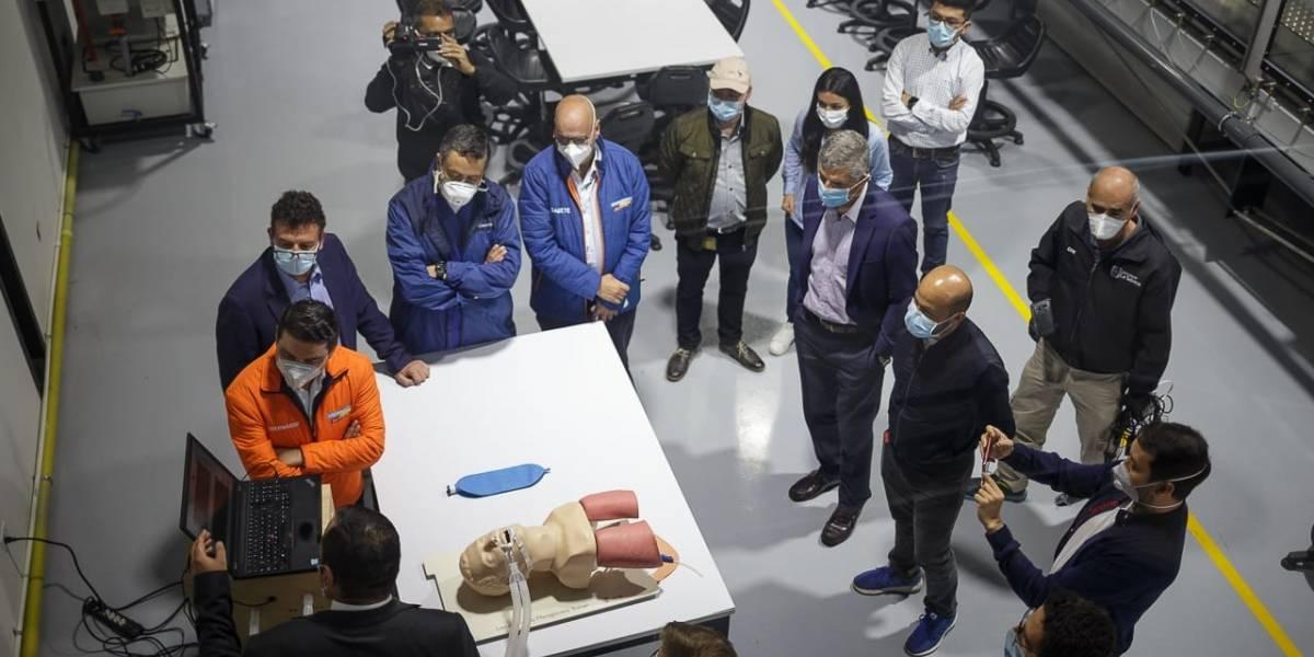 Respirador mecánico creado en Bogotá para enfrentar la COVID-19