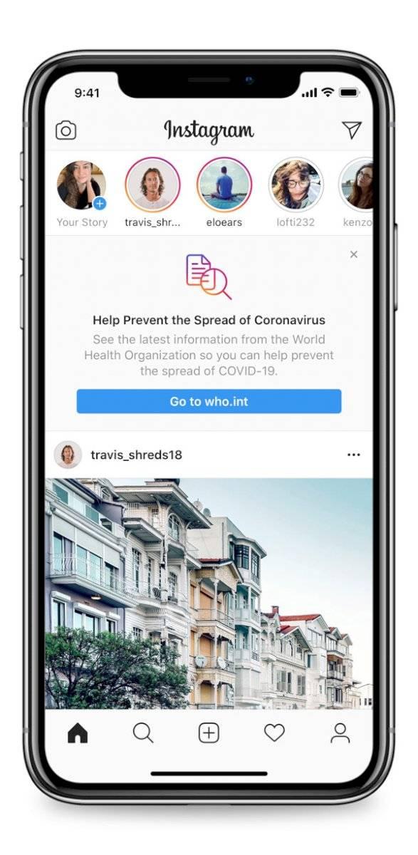 Coronavirus: Instagram habilita nuevas opciones para combatir la desinformación