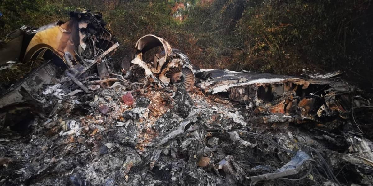 Aeronave se accidenta cerca de pista clandestina en Las Cruces, Petén